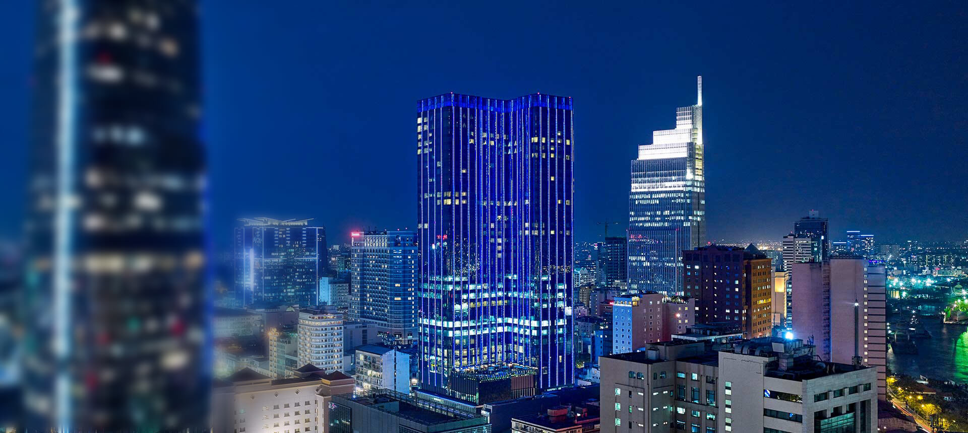 Saigon Timesquare in blue