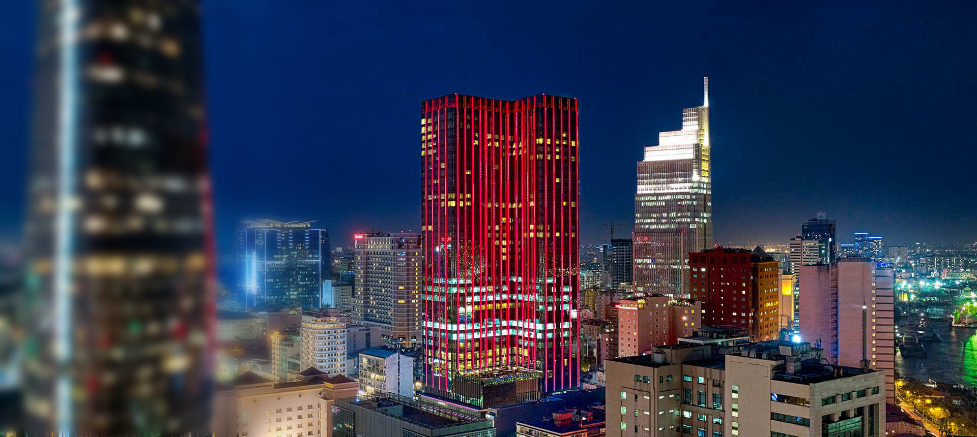 Saigon Timesquare in red